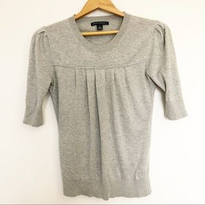 Banana Republic Gray Short Sleeve Sweater Size S